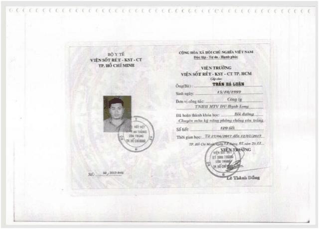 giấy chứng nhận chuyên môn, kỹ thuật, năng lực của công ty Hạnh Long 3